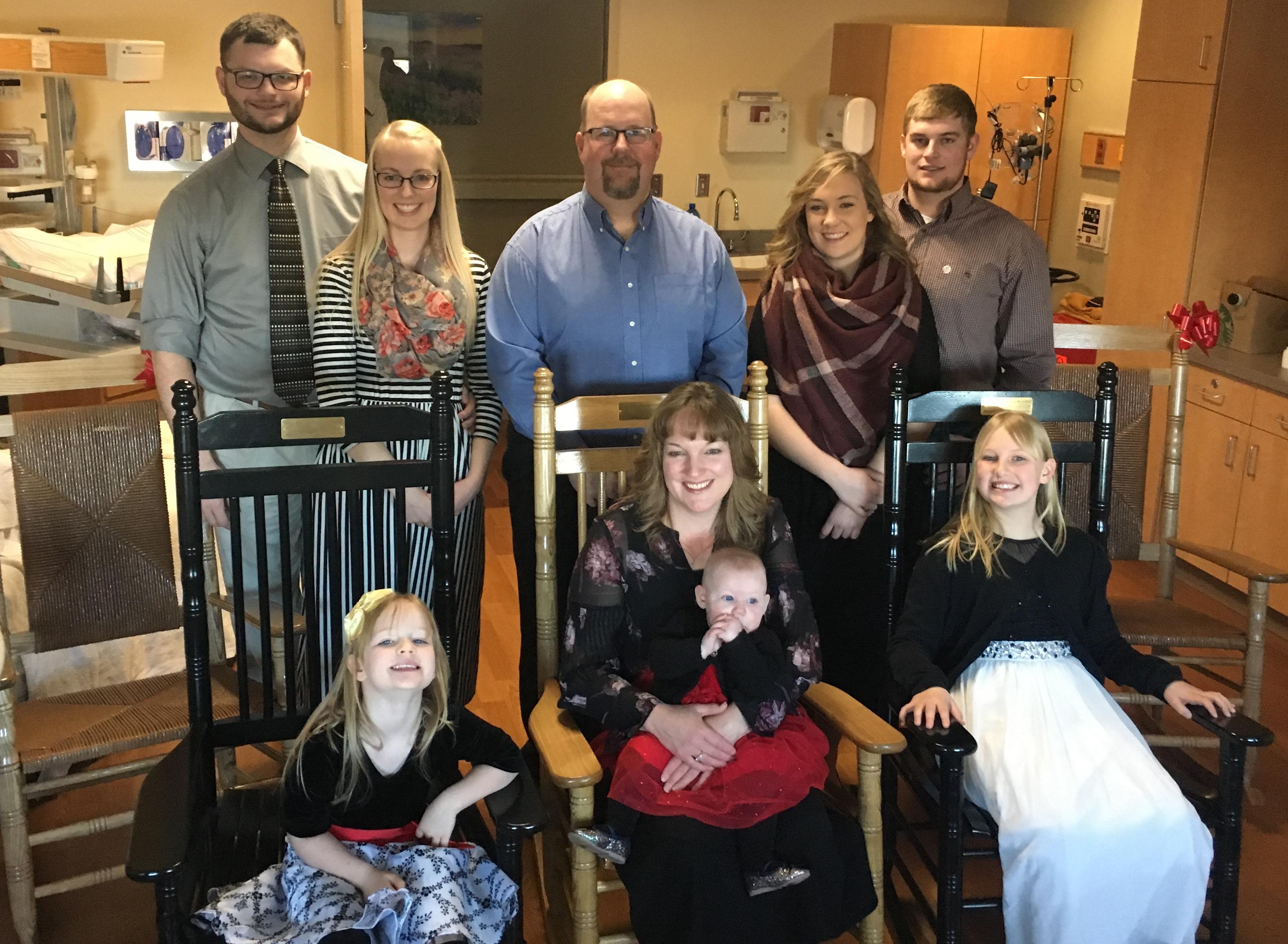 Mom decided to become the center of family photos