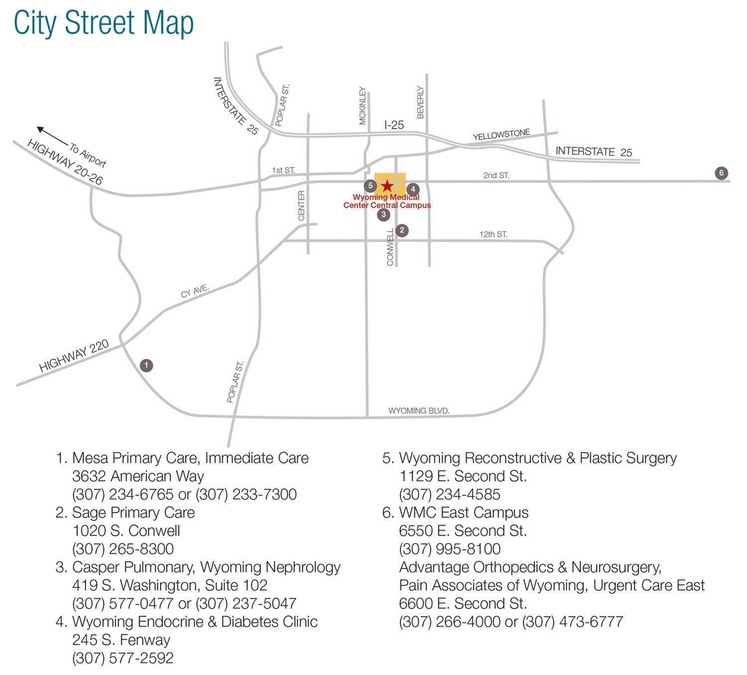 Directions & Maps - Wyoming Medical Center | Casper Hospital on